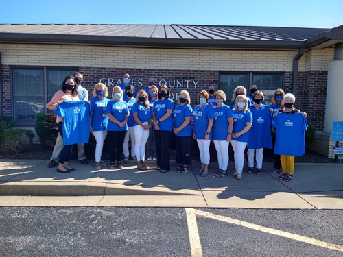 Graves County Employees with new shirts from FNB
